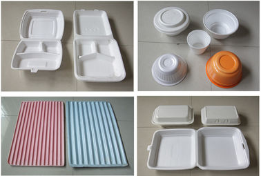 60Hz Food Box Machine / EPS Foam Clamshell Take Away Containers Production Line